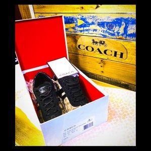 🆕Coach Kathleen Khaki/chestnut sneakers size 7🆕